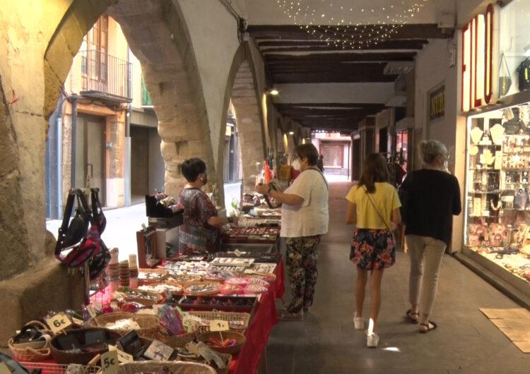 """Els comerciants del Centre Històric de Balaguer, satisfets amb el """"Mercat a la Fresca"""""""