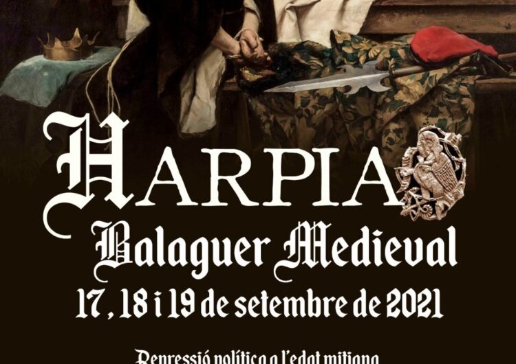 L'Harpia Balaguer Medieval se celebrarà els dies 17, 18 i 19 de setembre