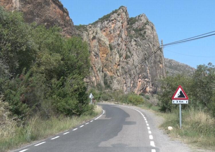 Actuació imminent a la carretera que connecta Sant Llorenç i Camarasa per evitar la caiguda de pedres a la via
