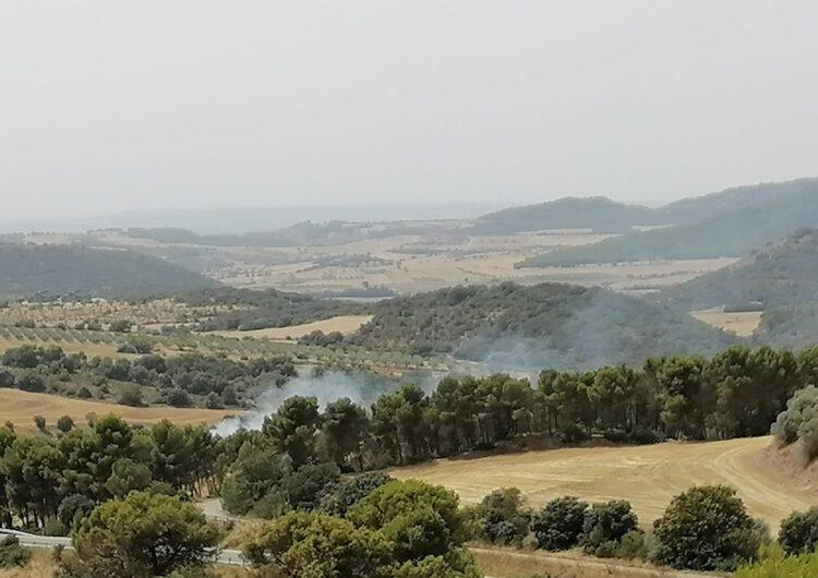 Extingeixen un incendi en un terreny agrícola pròxim al Monestir de les Avellanes