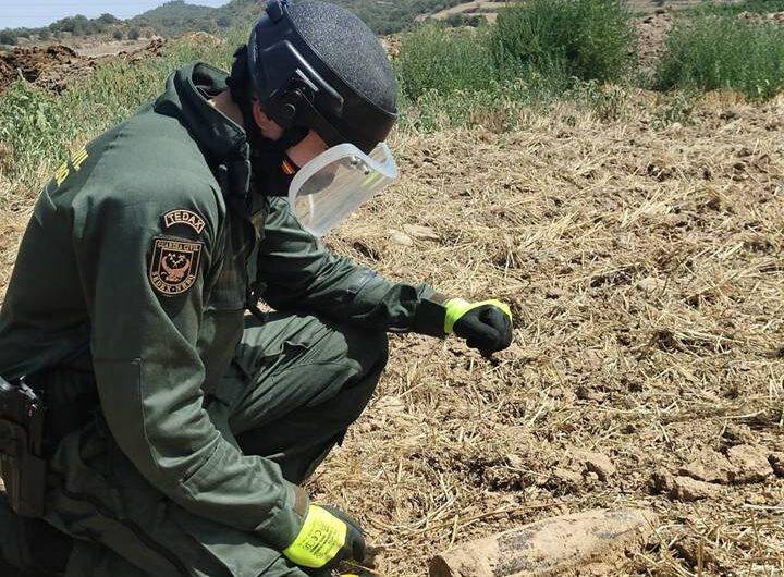 Troben una bomba de la Guerra Civil prop de la C-14 a Artesa de Segre