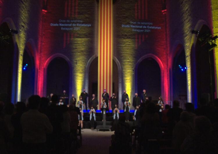 Pau Casals, Montserrat Roig i Amadeu Vives protagonitzen l'Acte Institucional de la Diada Nacional de Catalunya a Balaguer
